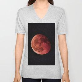 Blood Moon (Color) Unisex V-Neck