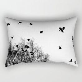 Black Crow Rectangular Pillow