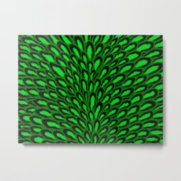 Green abstract leopard peacock pattern Metal Print