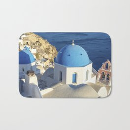 Santorini, Greece Bath Mat