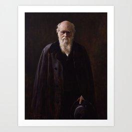John Collier - Charles Robert Darwin Art Print