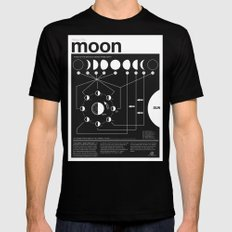 Phases of the Moon infographic Mens Fitted Tee MEDIUM Black