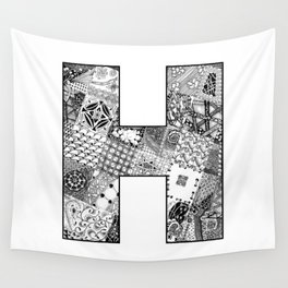 Cutout Letter H Wall Tapestry