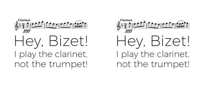 Hey Bizet! I play the clarinet, not the trumpet! Coffee Mug