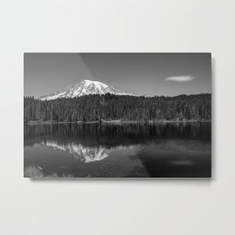 Touch of Glass - Mount Rainier at Reflection Lake in Washington Metal Print