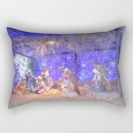 Christmas Nativity Scene Rectangular Pillow