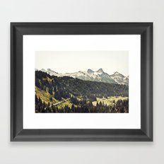 Epic Drive through the Mountains Framed Art Print