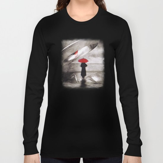 waiting in the sea, intervention Long Sleeve T-shirt