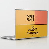 tenenbaum Laptop & iPad Skins featuring Three Plays By Margot Tenenbaum by FunnyFaceArt