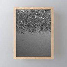 Sparkling Silver Gray Lady Glitter #2 (Faux Glitter) #shiny #decor #art #society6 Framed Mini Art Print