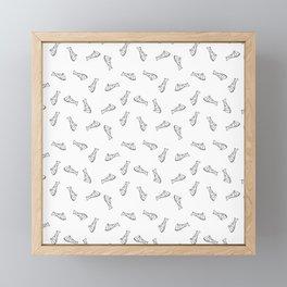 Pizza repeating pattern seamless Framed Mini Art Print