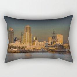 San Diego Skyline at Sunset Rectangular Pillow