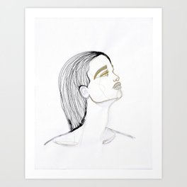 Wet hair Sue Art Print