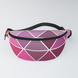 Palette of pink triangles Fanny Pack
