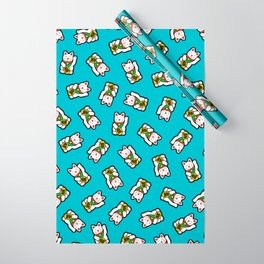 Lucky Cat Pattern Wrapping Paper