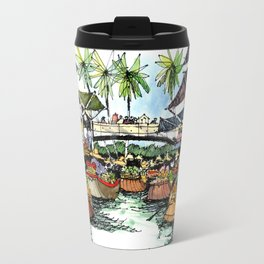 Floating Market, Rajburi, Thailand Travel Mug