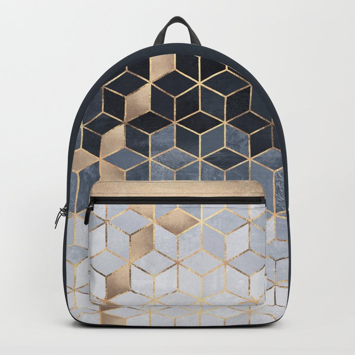 Soft Blue Gradient Cubes Rucksack