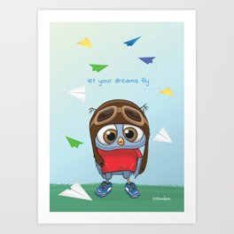 Let Your Dreams Fly Art Print