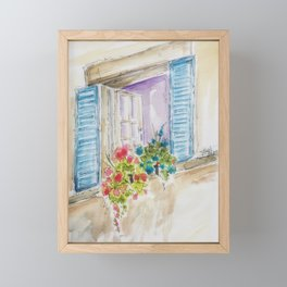 Old World Window Framed Mini Art Print