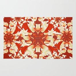Digital Decorative Floral Pattern Rug