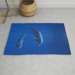 Dolphin Couple Rug