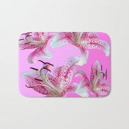 PURPLE & PINK ASIAN LILIES ART Bath Mat