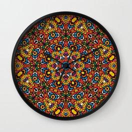 Arabesque kaleidoscopic Mosaic G518 Wall Clock