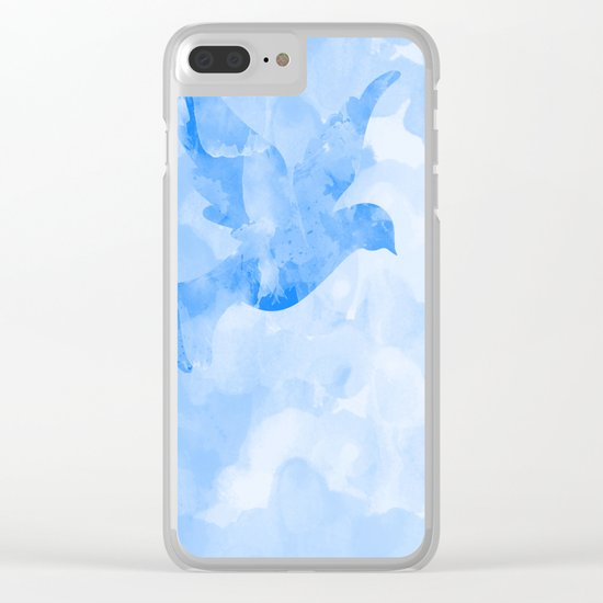 Abstract Flying Dove II Clear iPhone Case