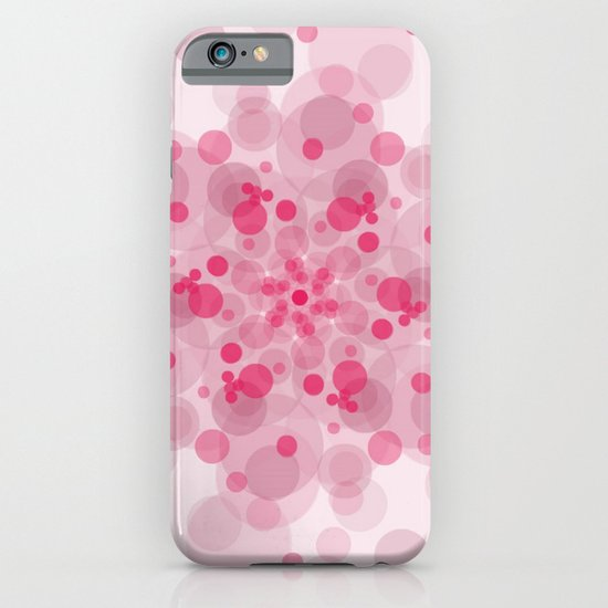 Pink circles pattern iPhone & iPod Case