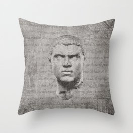 ANCIENT / Head of Caracalla Throw Pillow