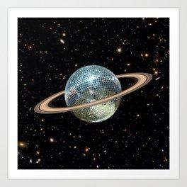Saturn Disco II Art Print