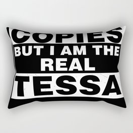 I Am Tessa Funny Personal Personalized Gift Rectangular Pillow
