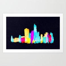 Colour City Art Print