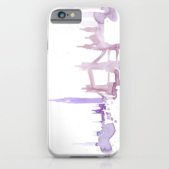 Watercolor landscape illustration_London iPhone & iPod Case