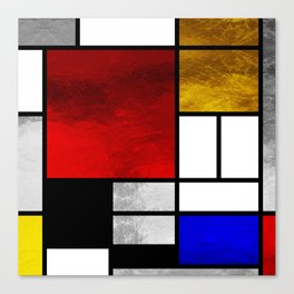 Luxury Mondrian Canvas Print