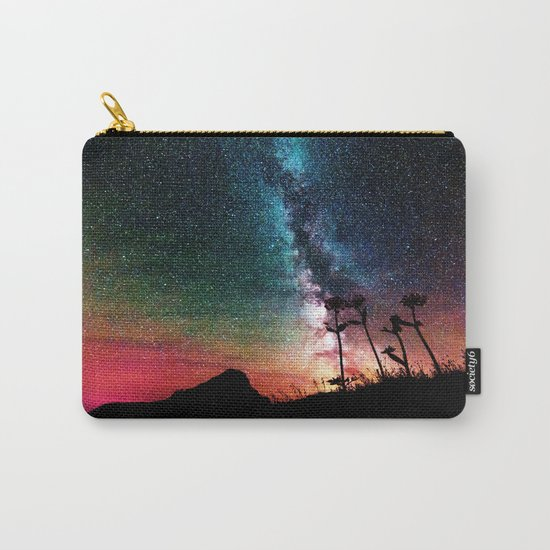 Colorful Milky Way Landscape Carry-All Pouch