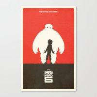 big hero 6 Canvas Prints featuring Big Hero 6 by FelixT