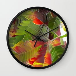 New Tulip Colors 2017 Wall Clock