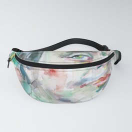 BENJAMIN FRANKLIN watercolor portrait Fanny Pack