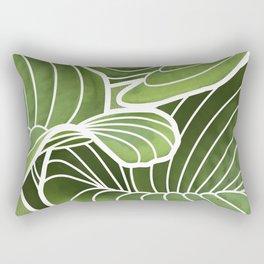 Hosta Detail Rectangular Pillow