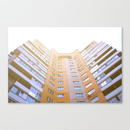 view of a multi-storey building from below Canvas Print