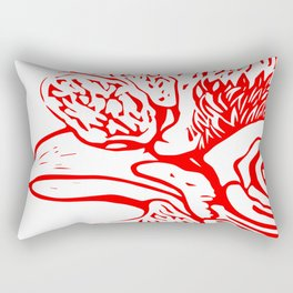 The Eye of the Hen in Red Rectangular Pillow