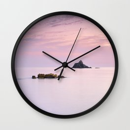 San Cristobal Reefs At Sunset . Wall Clock