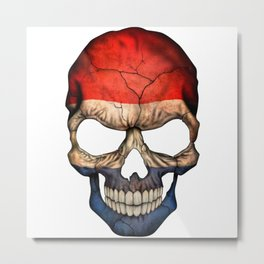 Exclusive Netherlands skull design Metal Print