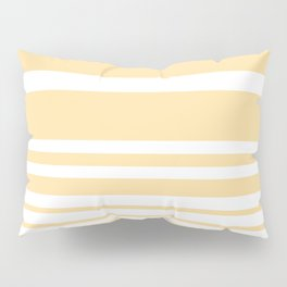 Scandi Pastel Lemon Stripes Pillow Sham