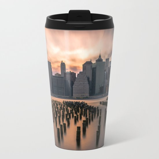 New york city long exposure Metal Travel Mug