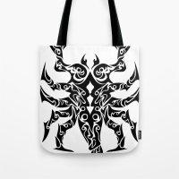scorpio Tote Bags featuring Scorpio by Mario Sayavedra