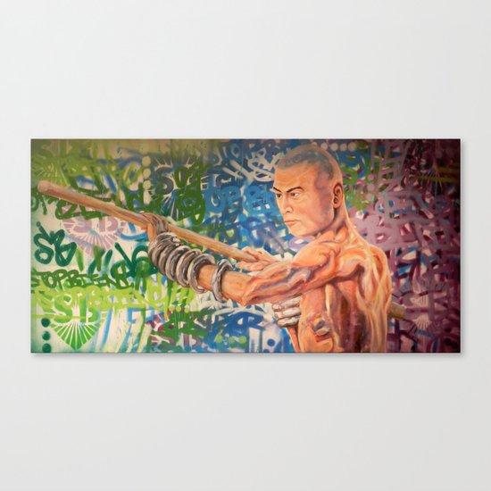 Stop Biting 3 Canvas Print
