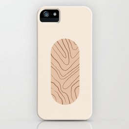 DATE AND TIME - Hand drawn modern abstract art iPhone Case