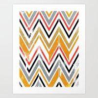 herringbone Art Prints featuring herringbone by Emmy Winstead